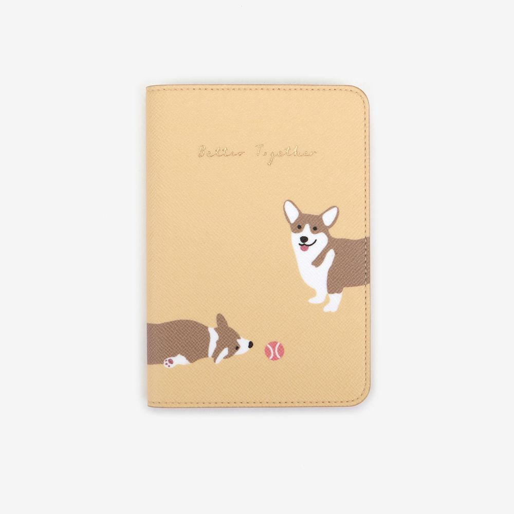 Dailylike 美好生活皮革護照套-10 柯基