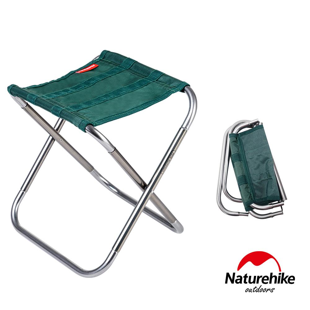 Naturehike L012超輕量便攜式收納鋁合金折疊椅 釣魚椅 綠色-急