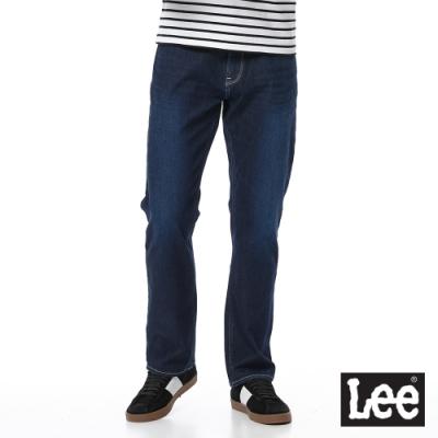 Lee 牛仔褲 743 中腰舒適直筒 男 深藍 四面彈