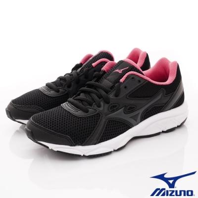 MIZUNO童鞋 綁帶運動鞋款-TW02003黑灰桃(中大童段)