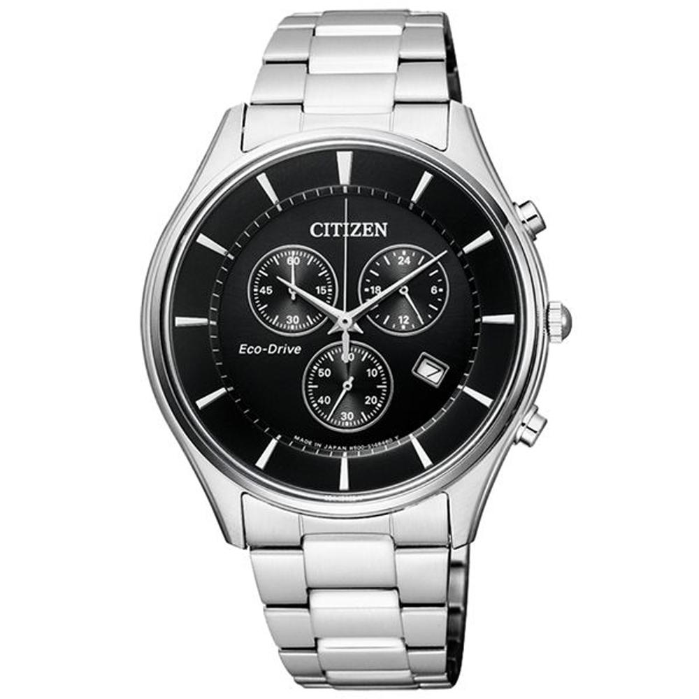 CITIZEN Eco-Drive 意志力牽動光動能計時錶(AT2360-59)-39mm