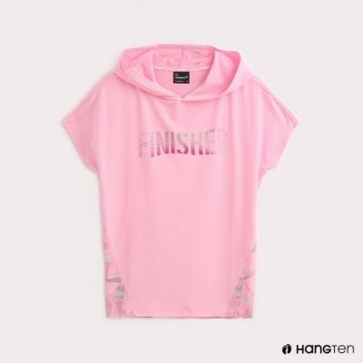 Hang Ten-ThermoContro-女裝連帽機能T恤-蕭青陽設計款-粉