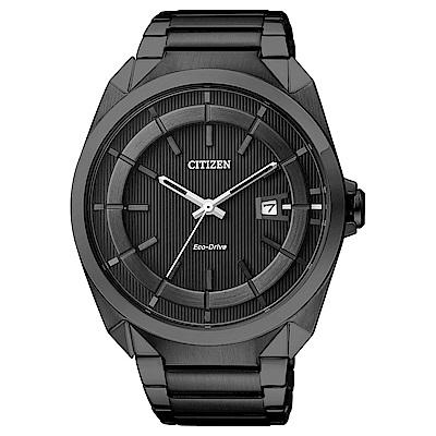 CITIZEN 星辰光動能紳士時尚手錶(AW1015-53E)-黑/43mm