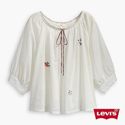 Levis 七分袖襯衫 女裝 花紋刺繡