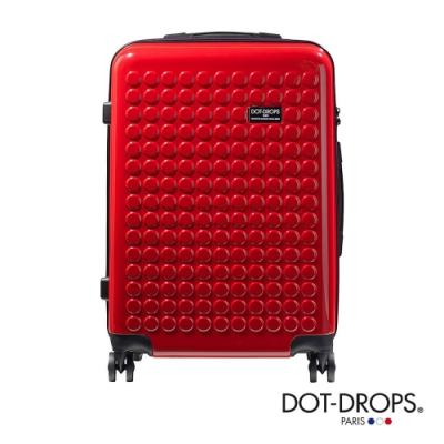 DOT-DROPS 24 吋 Chapter 2 輕量客製點點硬殼行李箱 - 熱情紅