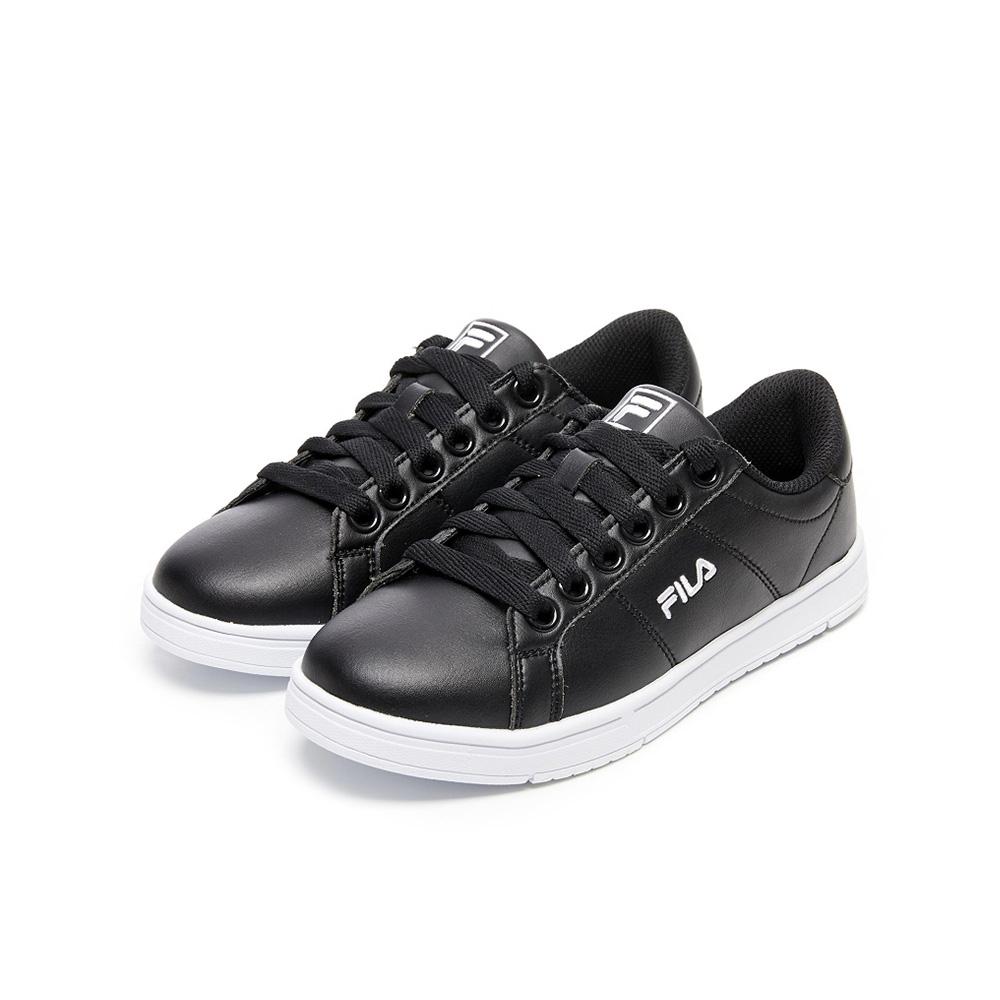 FILA 中性綁帶板鞋運動鞋-黑色 4-C617V-011
