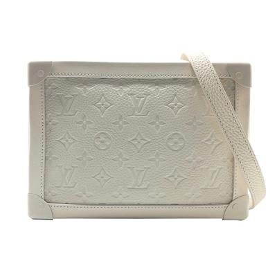 Louis Vuitton 全皮壓紋 SOFT TRUNK 軟箱斜背包(M53287-白)