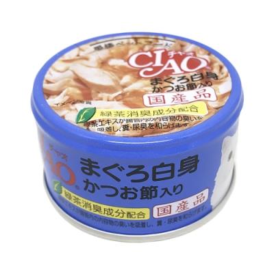 日本 CIAO 旨定罐 A-85 鮪魚&柴魚片 85g