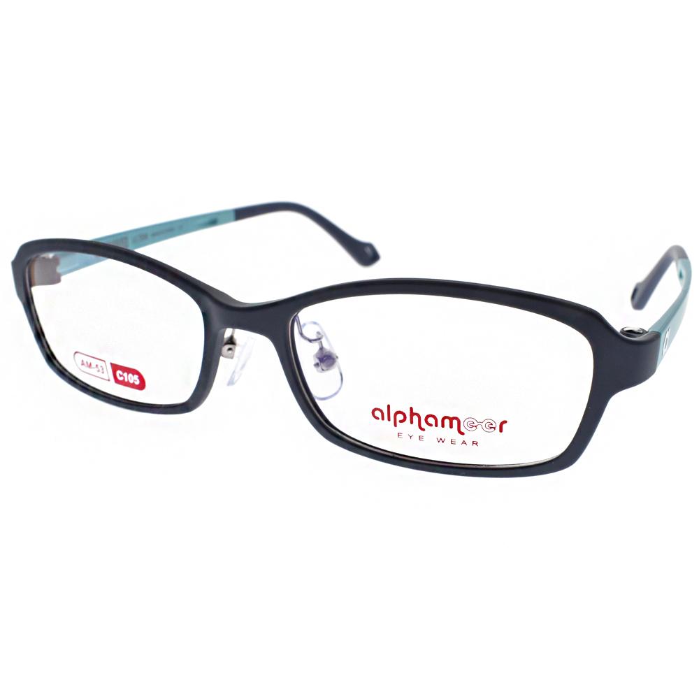 Alphameer光學眼鏡 韓國塑鋼系列/藍-綠#AM53 C105