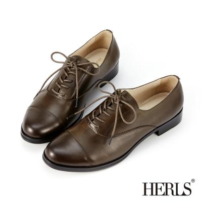 HERLS牛津鞋-義大利進口牛皮經典紳士鞋牛津鞋-墨綠色