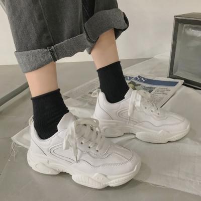 韓國KW美鞋館 明星同款柔美愛戀素色平底鞋-白