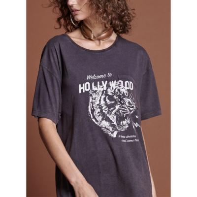 ONETEASPOON T恤 BLACK HOLLYWOOD-(女)