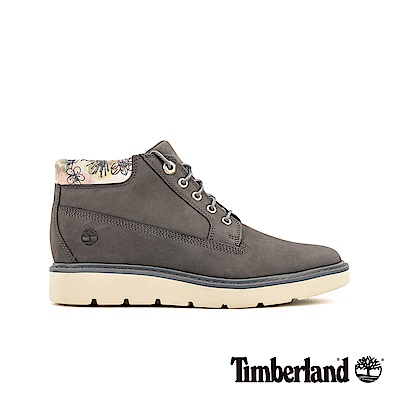 Timberland 女款中灰色磨砂革花型圖案鞋領靴 A1WAW