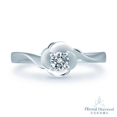 Alesai 艾尼希亞鑽石 30分 F-G成色 花朵鑽戒