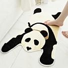 BUNNY LIFE 熊貓造型植絨吸水防滑地墊-大50x80cm