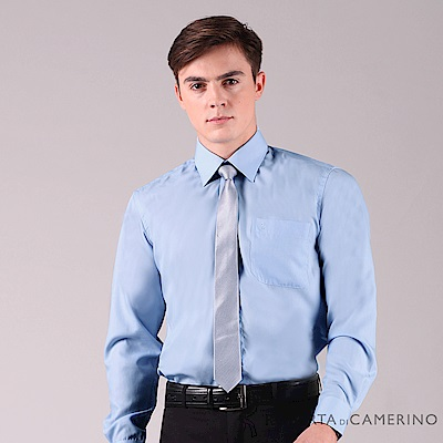 ROBERTA諾貝達 輕柔觸感 職場型男防皺長袖襯衫RDE53-34水藍