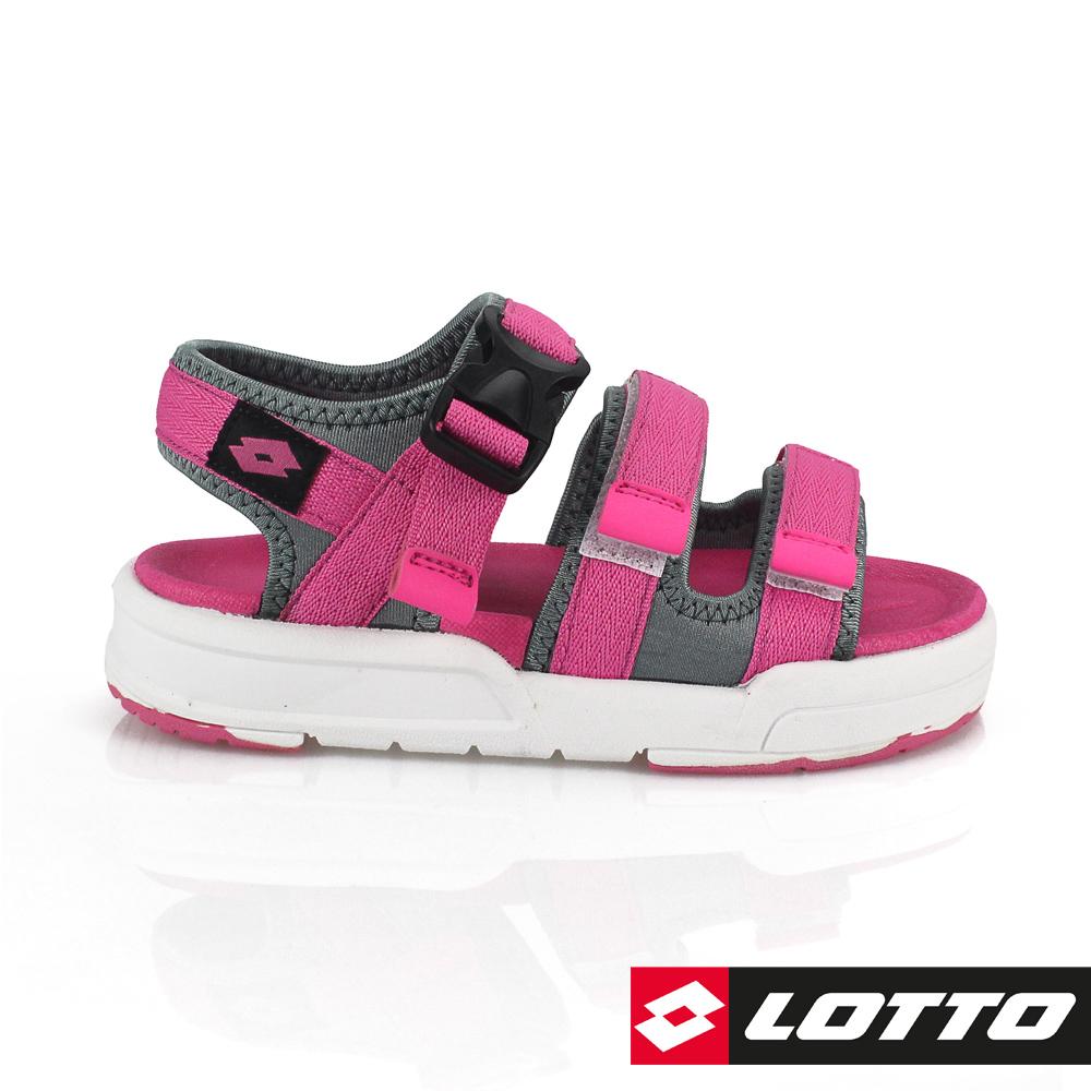 LOTTO 義大利 童 潮流織帶涼鞋 (粉紅)