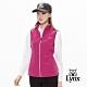 【Lynx Golf】女款3D立領反光印花無袖背心-紫紅色 product thumbnail 2