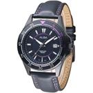ALBA 男朋友風格設計風女錶-真皮錶帶/黑(AS9261X1)/34mm