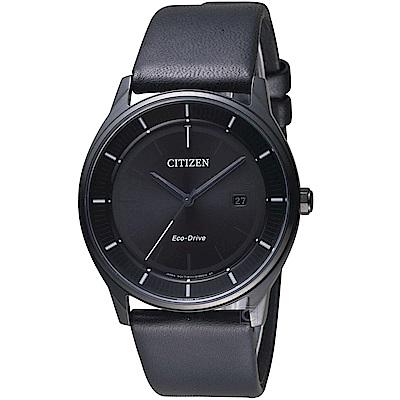 CITIZEN 星辰 GENT S簡約時尚光動能腕錶(BM7405-19E)-黑皮