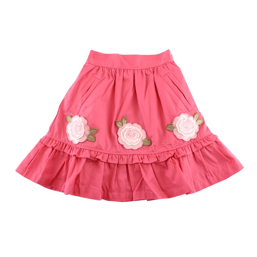 愛的世界 純棉半鬆緊帶古典玫瑰短裙