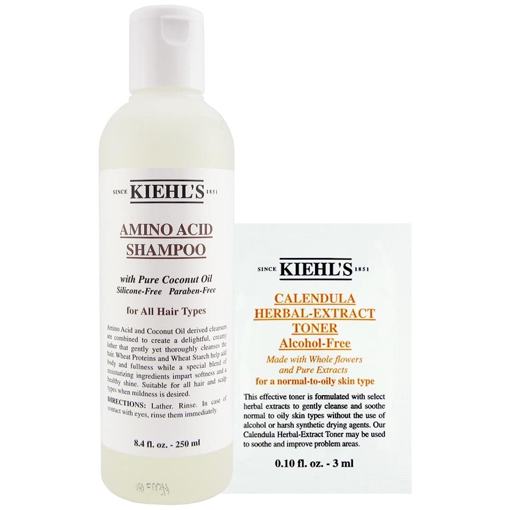 KIEHLS契爾氏 氨基酸洗髮精250ml+金盞花植物精華化妝水3ml