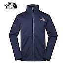 The North Face北面男款深藍色防潑水抓絨風衣外套|3RKOH2G