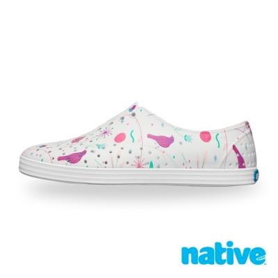 native JERICHO PRINT 女鞋-貝殼白x北歐綠園