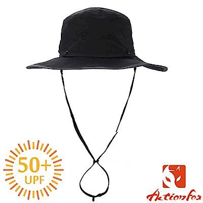 挪威 ACTIONFOX 男新款 速乾脫卸式帽冠遮陽帽UPF50+_黑
