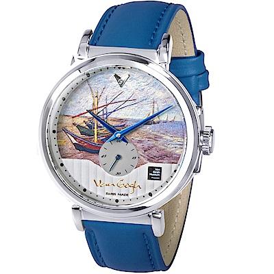 梵谷Van Gogh Swiss Watch小秒盤梵谷經典名畫男錶(C-SLMF-25)