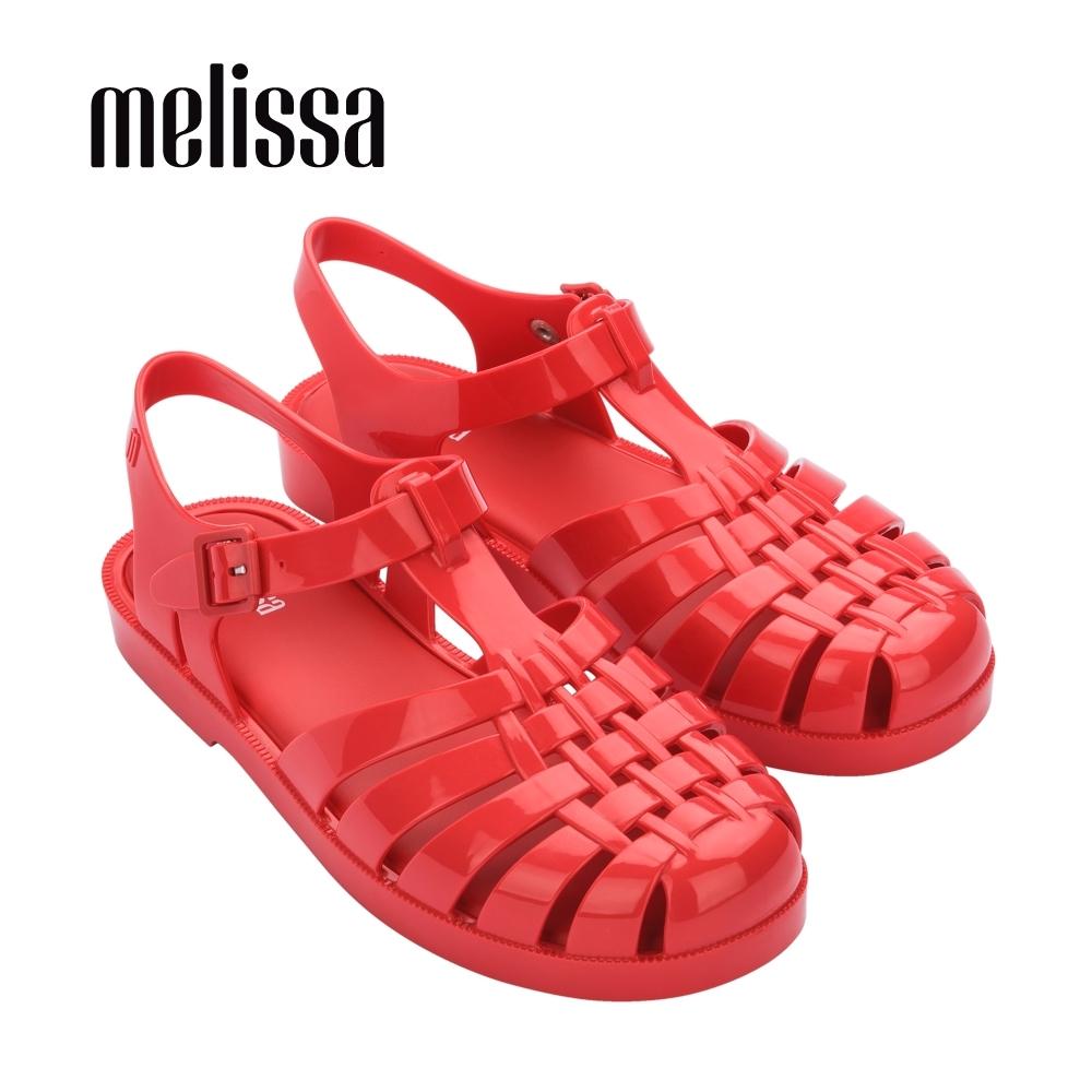 Melissa POSSESSION經典純色漁夫鞋-紅