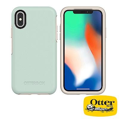 OtterBox iPhoneX炫彩幾何系列保護殼-文青綠