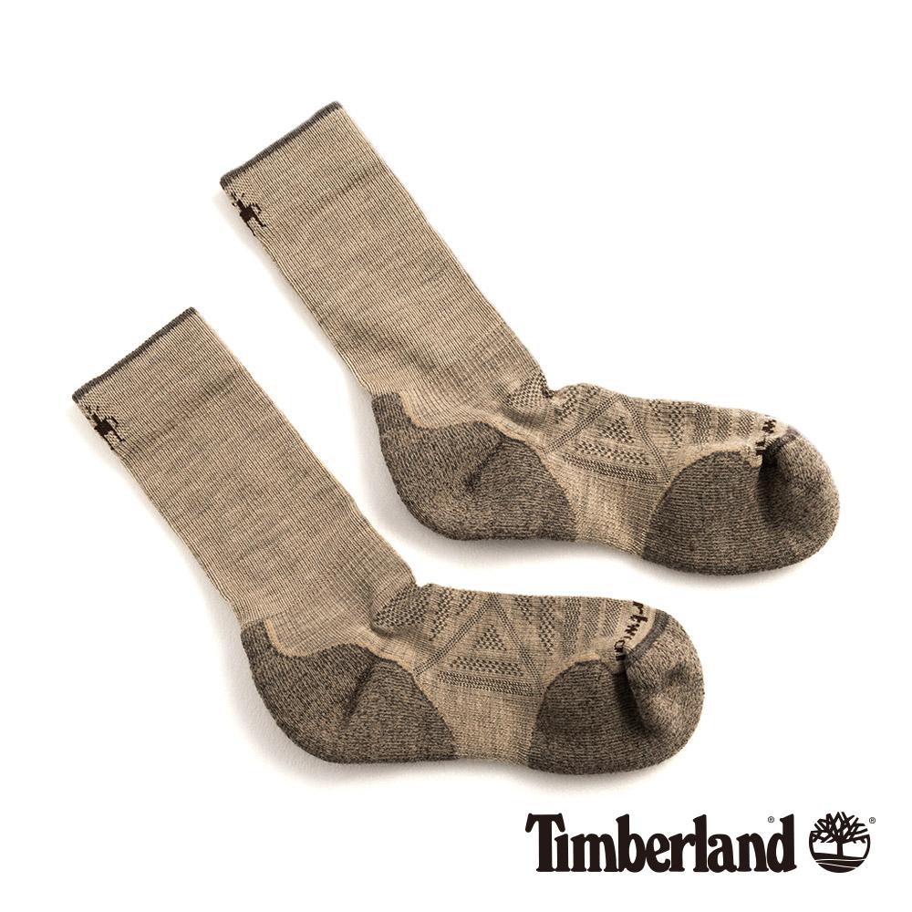 Timberland 男款米色透氣吸汗舒適中筒襪|01069