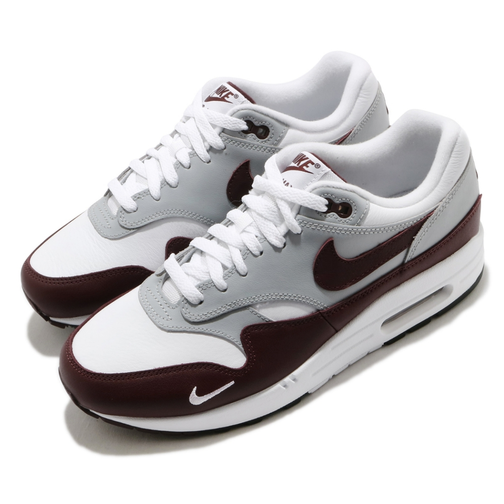 Nike 休閒鞋 Air Max 1 PRM 運動 男鞋 經典款 氣墊 舒適 避震 皮革 穿搭 白 咖啡 DB5074101