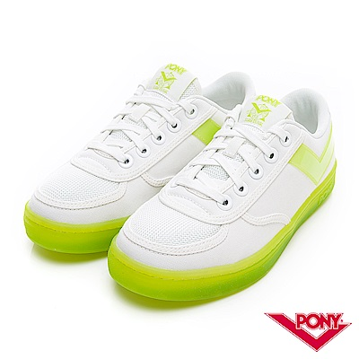 【PONY】SLAM DUNK半透明Q光澤果凍鞋 小白鞋 板鞋 女鞋 草綠