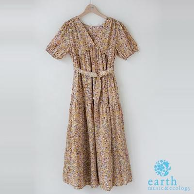 earth music 桔梗小花洋裝