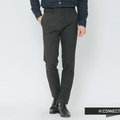 H:CONNECT 韓國品牌 男裝-混織修身西裝褲-灰(快)