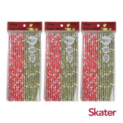 Skater環保紙吸管(6mm)-小熊維尼3包
