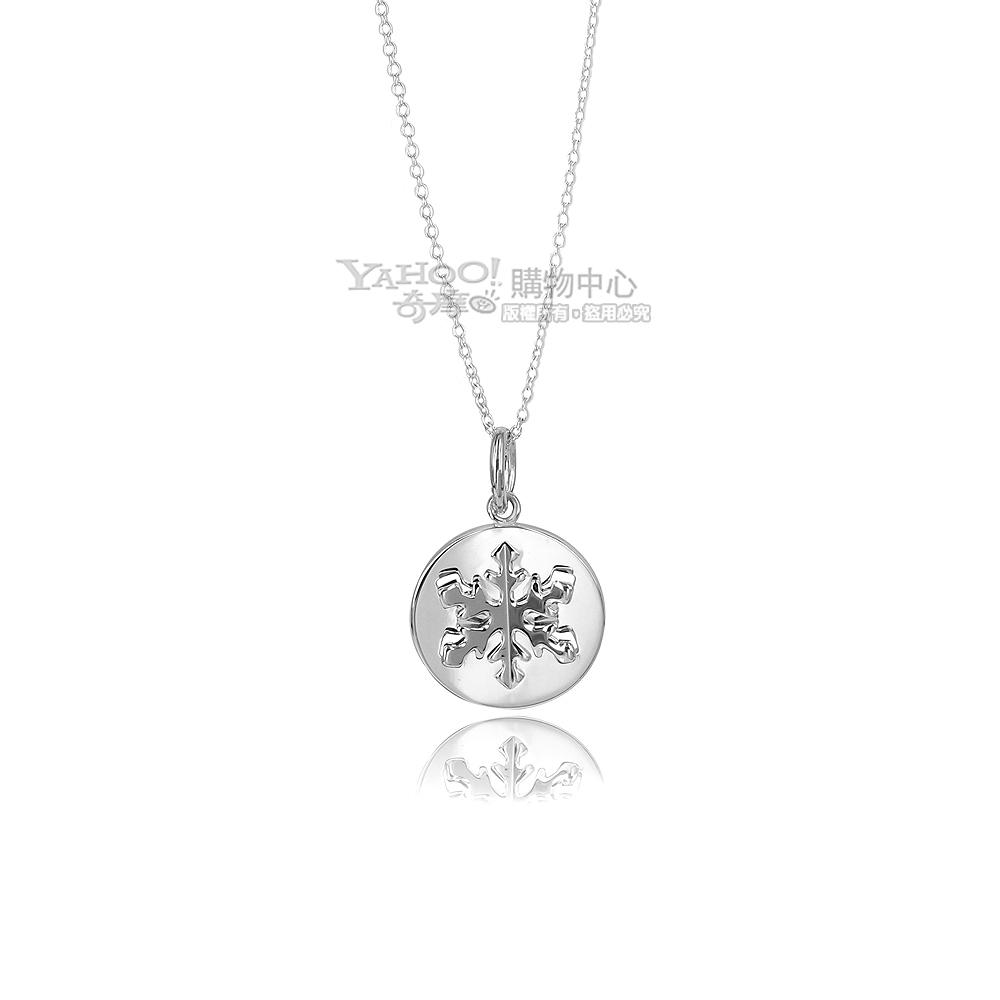 Tiffany&Co. 圓形立體雪花925純銀項鍊 @ Y!購物