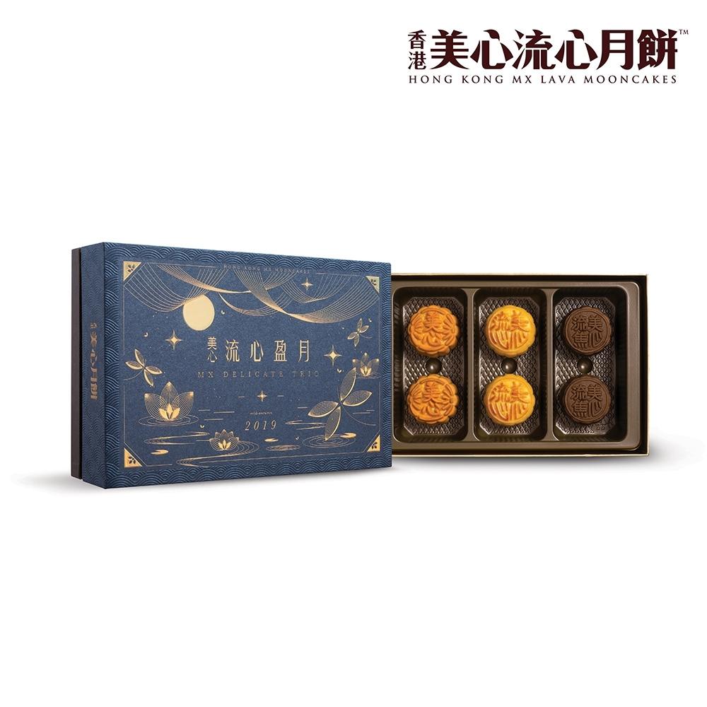 美心 流心盈月月餅(45gx6入)(效期:2019/9/24)