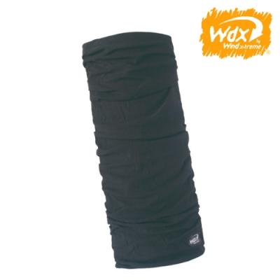 【Wind x-treme】美麗諾羊毛保暖多功能頭巾 5012 黑色(透氣、圍領巾、西班牙)