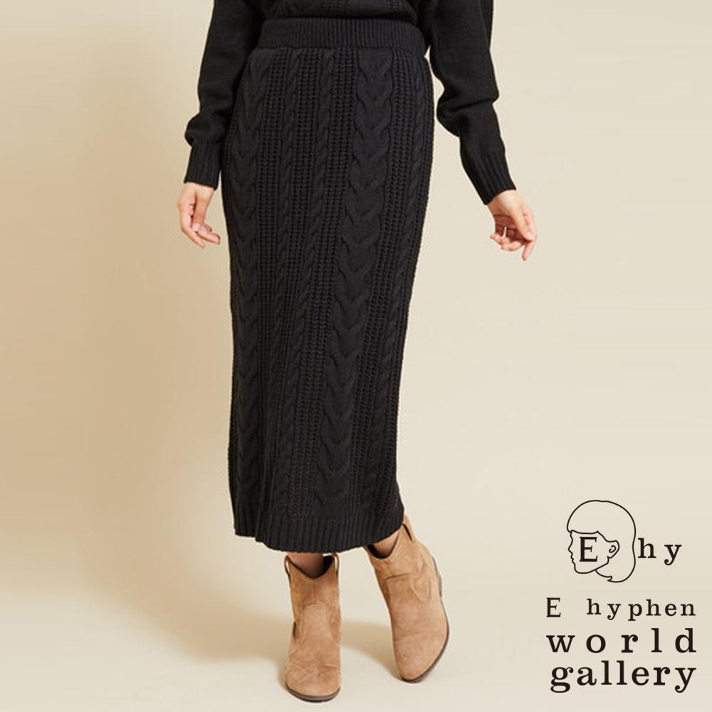 E hyphen 麻花編織設計針織窄身裙