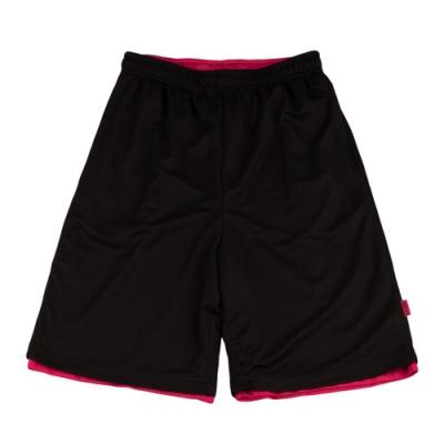 【V-TEAM】雙面穿吸排籃球褲-黑