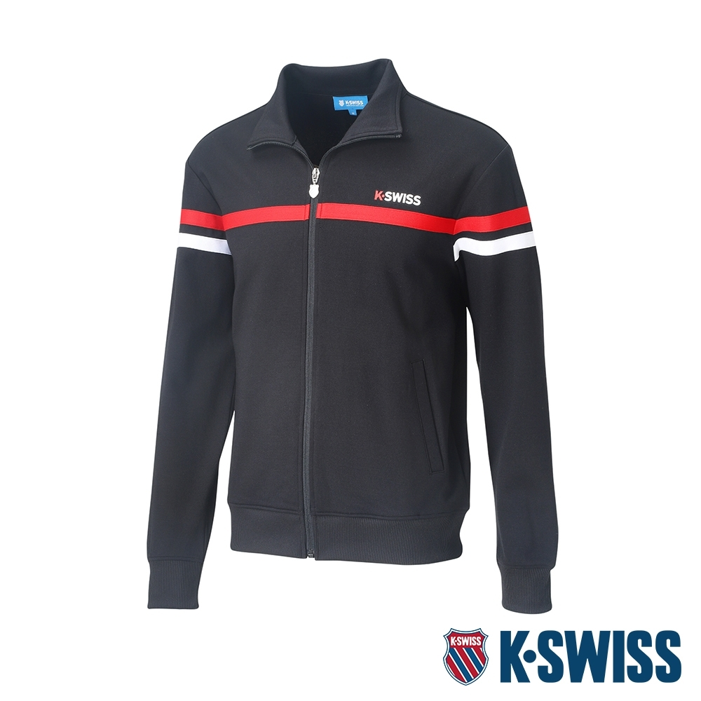 K-SWISS Mock Neck Jacket運動外套-男-黑 product image 1