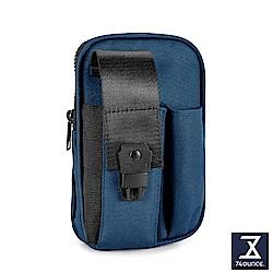 74盎司  Life 釦式雙層尼龍腰掛包[G-1035-LI-M]藍