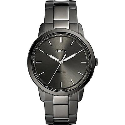 FOSSIL Minimalist 薄型簡約手錶(FS5459)-鐵灰/44mm