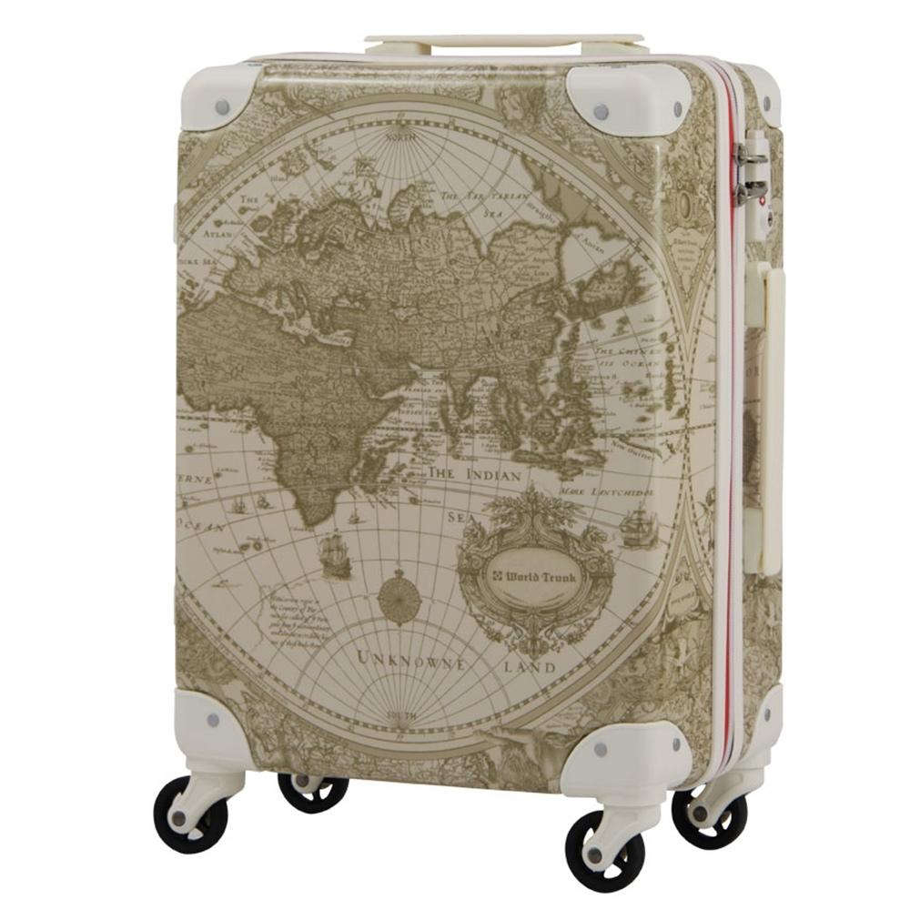 日本WORLD TRUNK 7500-46-19吋 PC+ABS鋁框輕量登機箱 雪白世界