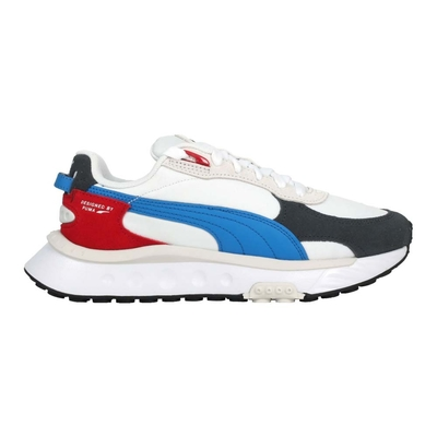 PUMA WILD RIDER ROLLIN 女休閒運動鞋-休閒 經典 麂皮 38151704 白灰紅藍