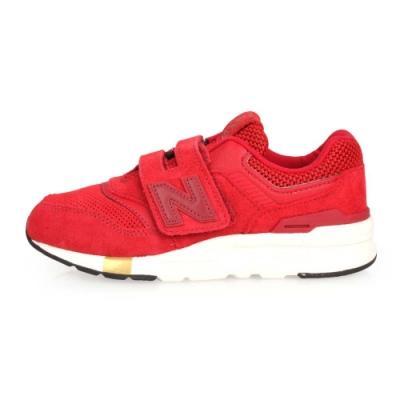 NEWBALANCE 997系列 男女童慢跑鞋-WIDE-魔鬼氈 NB 紅