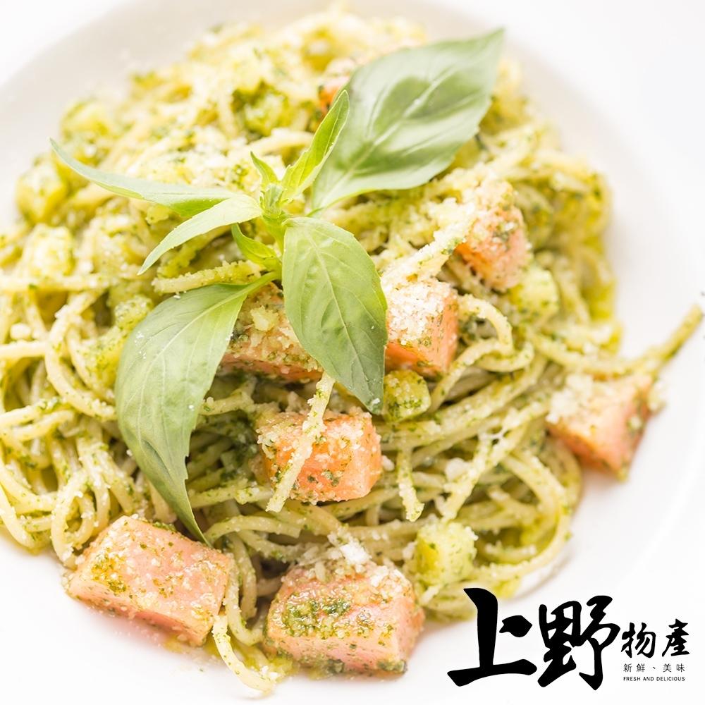【上野物產】歌德式奶香鮭魚義式圓麵(麵體+醬料包 300g土10%/包) x24包